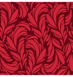Seamless pattern with red and gold feathers vector image