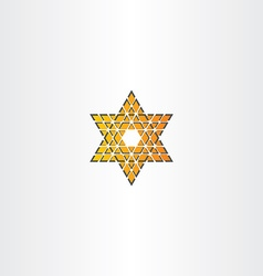 star icon triangle abstract vector image vector image