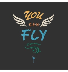 You can flyncreative tee shirt apparel print vector image vector image