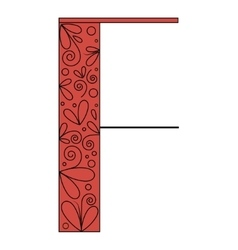 Decorative letter shape F vector image vector image