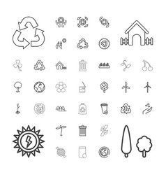 37 ecology icons vector