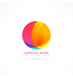 abstract colorful circle element vector image