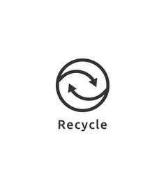 abstract recycle logo cycle arrow symbol icon vector image