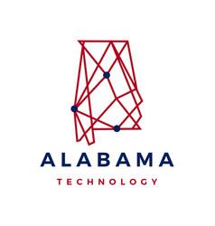Alabama technology connection geometric polygonal vector