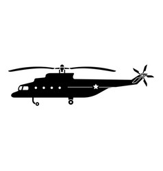 Army helicopter icon simple style vector
