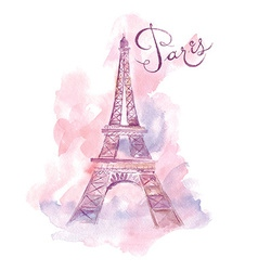 Artistic eiffel tower design vector image