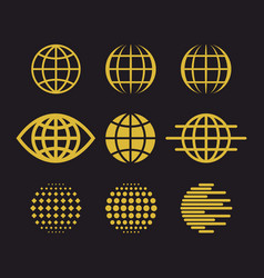 Big set globes vector