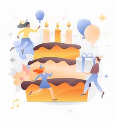 birthday cake to take vector image