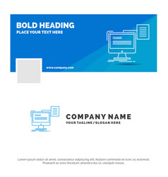 blue business logo template for resume storage vector image