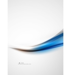 Blue glossy silk wave design template vector