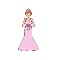 Bride color icon vector