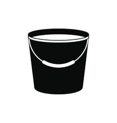 bucket full water icon vector image