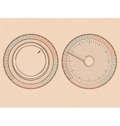 Button and dial vector