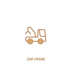 Car crane concept 2 colored icon simple line vector