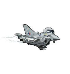 cartoon fighter plane vector image