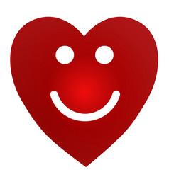 cartoon smiling female heart on white background vector image
