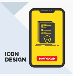 categories check list listing mark glyph icon in vector image