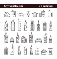 Cityscape constructor vector