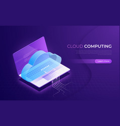 cloud computing storage services data network vector image