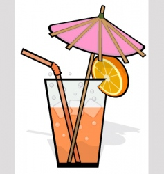 cool refreshing drink vector image