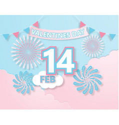 creative colorful invitation card valentines day vector image