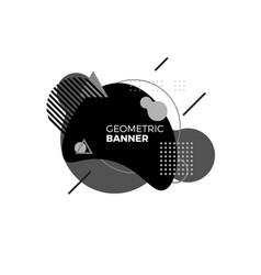 creative geometric banner template black vector image