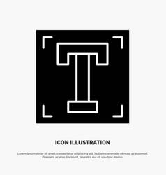 Designer font path program text solid glyph icon vector