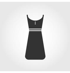 dress icon flat design vector image