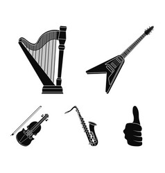 electric guitar loudspeakerharp saxophone vector image