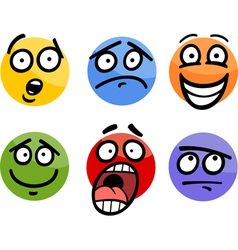 Emoticon or emotions set cartoon vector
