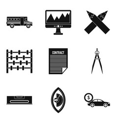 Enumerator icons set simple style vector