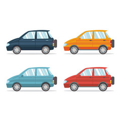family car simplified vector image