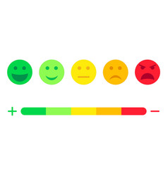 Feedback scale service with emotion icons meter vector