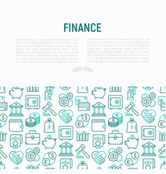 Finance concept with thin line icons vector
