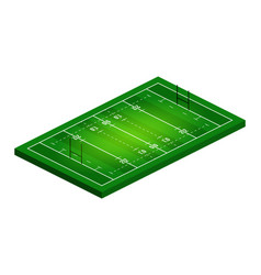 flat isometric view rugby field abstract vector image