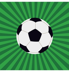 football on background vector image vector image