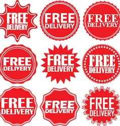 Free delivery signs set free delivery sticker set vector