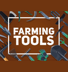 gardening and farming tools agriculture vector image