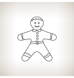 Gingerbread Man on a Light Background vector image