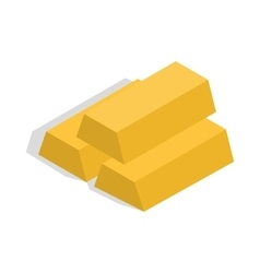 Gold bars icon isometric 3d style vector image