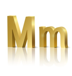 Golden letter M vector