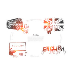 great britain traveling british culture vector image