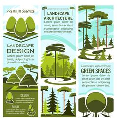 Green landscape design banners vector