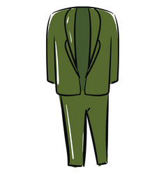 green suit on white background vector image