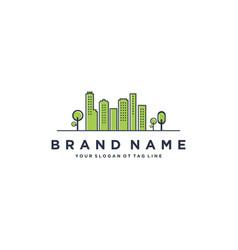 Green urban logo design vector