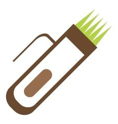 Hair clipper icon flat style vector