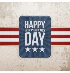 Happy Independence Day patriotic Emblem vector image