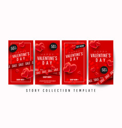 happy valentines day promo story banner vector image