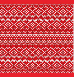knit geometric ornament seamless pattern vector image