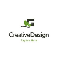 Letter g naturally creative business logo vector